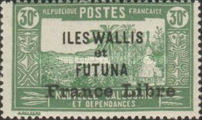 """[Adherence to General de Gaulle - Stamps of 1930-1938 Overprinted """"France Libre"""", type Q9]"""