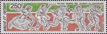 [Airmail - The 100th Anniversary of French Open Tennis Championships, type QE]