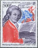 [Airmail - The 200th Anniversary of the Death of Wolfgang Amadeus Mozart, Composer, 1756-1791, type QL]