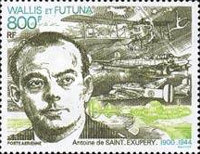 [Airmail - The 50th Anniversary of the Death of Antoine de Saint-Exupery, Author and Pilot, 1900-1944, Typ SX]