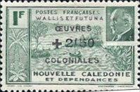 "[Colonial's Fund - Previous Stamps Overprinted ""OEVRES COLONIALES"" and Surcharged, type U1]"