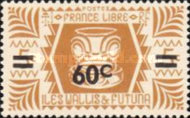 [French Free Administration Stamps of 1944 Surcharged, type X1]