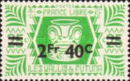 [French Free Administration Stamps of 1944 Surcharged, type X4]