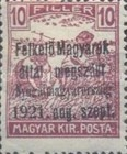 [Hungary Postage Stamps Overprinted - Reaper & Parliament, type A]