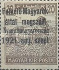 [Hungary Postage Stamps Overprinted - Reaper & Parliament, type A1]