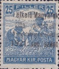 [Hungary Postage Stamps Overprinted - Reaper & Parliament, type A2]