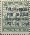[Hungary Postage Stamps Overprinted - Reaper & Parliament, type A3]
