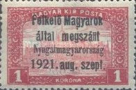[Hungary Postage Stamps Overprinted - Reaper & Parliament, type A6]