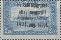 [Hungary Postage Stamps Overprinted - Reaper & Parliament, type A8]