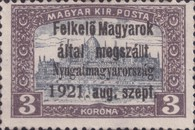 [Hungary Postage Stamps Overprinted - Reaper & Parliament, type A9]