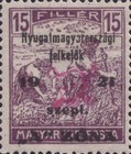 [Hungary Postage Stamps Overprinted - Reaper & Parliament, type B2]