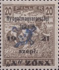 [Hungary Postage Stamps Overprinted - Reaper & Parliament, type B3]