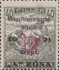 [Hungary Postage Stamps Overprinted - Reaper & Parliament, type B4]
