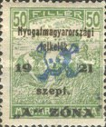 [Hungary Postage Stamps Overprinted - Reaper & Parliament, type B5]