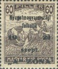 [Hungary Postage Stamps Overprinted - Reaper & Parliament, type B6]