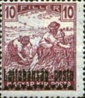 [Hungary Postage Stamps Overprinted - Reaper & Parliament, type C]