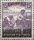 [Hungary Postage Stamps Overprinted - Reaper & Parliament, type C1]