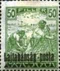 [Hungary Postage Stamps Overprinted - Reaper & Parliament, type C4]