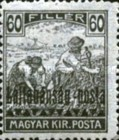 [Hungary Postage Stamps Overprinted - Reaper & Parliament, type C5]