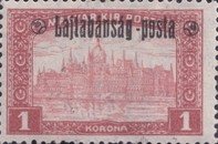 [Hungary Postage Stamps Overprinted - Reaper & Parliament, type C6]