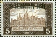 [Hungary Postage Stamps Overprinted - Reaper & Parliament, type C9]
