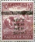 [Hungary Postage Stamps Handstamped Overprinted - Reaper & Parliament, type E1]