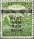 [Hungary Postage Stamps Handstamped Overprinted - Reaper & Parliament, type E5]