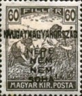 [Hungary Postage Stamps Handstamped Overprinted - Reaper & Parliament, type E6]