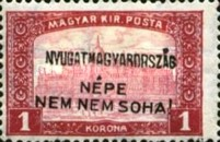 [Hungary Postage Stamps Handstamped Overprinted - Reaper & Parliament, type E7]
