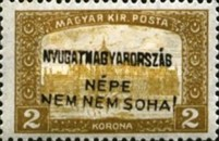 [Hungary Postage Stamps Handstamped Overprinted - Reaper & Parliament, type E8]