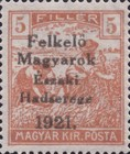 [Hungary Postage Stamps Overprinted - Reaper, Parliament & Madonna and Child, type F]