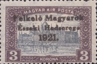 [Hungary Postage Stamps Overprinted - Reaper, Parliament & Madonna and Child, type F10]