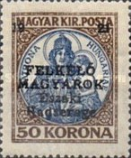 [Hungary Postage Stamps Overprinted - Reaper, Parliament & Madonna and Child, type F14]