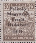 [Hungary Postage Stamps Overprinted - Reaper, Parliament & Madonna and Child, type F3]