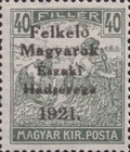 [Hungary Postage Stamps Overprinted - Reaper, Parliament & Madonna and Child, type F4]