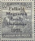 [Hungary Postage Stamps Overprinted - Reaper, Parliament & Madonna and Child, type F6]