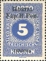 [Austrain Postage Due Stamps of 1916 Overprinted