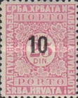[Numeral Stamps Surcharged, type K]