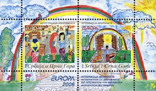 [EUROPA Stamps - Integration Through the Eyes of Young People - Children's Paintings, type ]