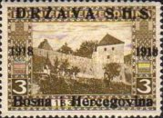 [Postage Stamps from Bosnia-Herzegovina Overprinted, type A]