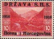 [Postage Stamps from Bosnia-Herzegovina Overprinted, type A1]