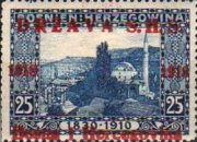 [Postage Stamps from Bosnia-Herzegovina Overprinted, type A3]