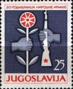 [The 20th Anniversary of the Yugoslavian Army. National Army Day, Typ ANK]
