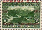 [Postage Stamps from Bosnia-Herzegovina Overprinted, type B]