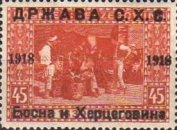 [Postage Stamps from Bosnia-Herzegovina Overprinted, type B3]
