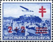 [The Fight Against Tuberculosis - Airmail Issue of 1937 Surcharged, Typ BV10]