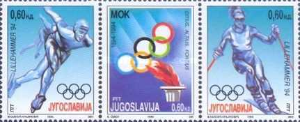 [Winter Olympic Games - Lillehammer, Norway - The 150th Anniversary of International Olympic Committee (IOC), type CXU]