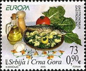 [EUROPA Stamps - Gastronomy, type DVD]