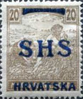 [Hungary Postage Stamps Overprinted - Colored Numerals, type R6]