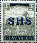 [Hungary Postage Stamps Overprinted - Colored Numerals, type R9]